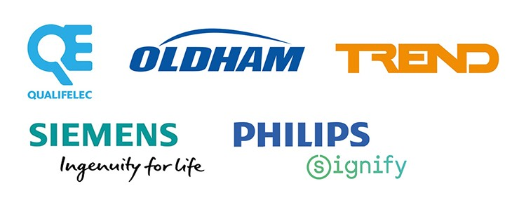 Certifications : Qualifelec - Oldham - Trend - Philips signify - Siemens Imgenuity for life